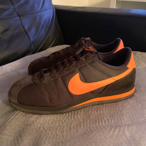 new concept 03f46 9d1ea Nike Cortez vintage nylon  06 brown orange size 10.  M 5bff587ee944bacf6e5ad8f8
